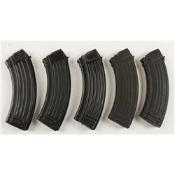 Lot of Five 30-round AK47 Magazines