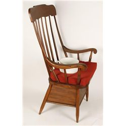 Wooden Chair with Chamber Pot