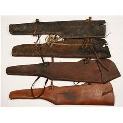 Lot of 5 Leather Gun Scabbards