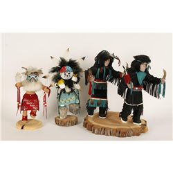 Lot of 2 Kachinas and 2 Native Dancers.