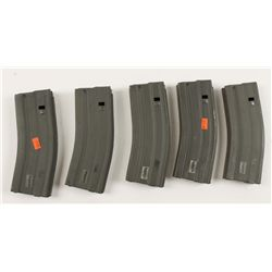 Lot of Five 30-round AR15 Magazines
