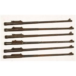 Lot of (6) Military Rifle Barrels