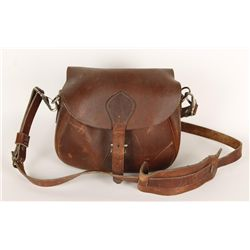 Leather shoulder bag with Shotgun Ammunition