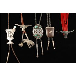 Lot of Five Bolo Ties