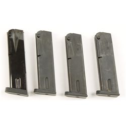 Lot of 4 Beretta High Capacity Pistol Magazines