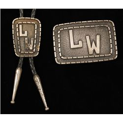 Set of Belt Buckle and Bolo Tie