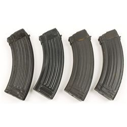Lot of Four 30 Round Capacity AK 47 Magazines