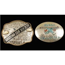 Lot of Two Sportsman's Belt Buckles