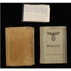 German WWII Army Wehrpass Soldiers I.D. Book