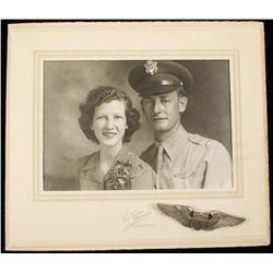 USAAF WWII Army Air Corps Pilot Photograph & Pilot