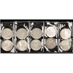 "Lot of Ten ""Morgan"" Silver Dollars"