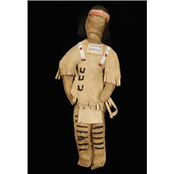 Old West Sioux Indian Child's Female Doll