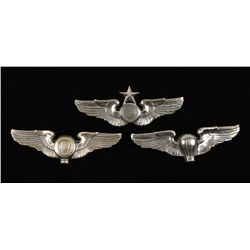 (3) USAAF WWII Army Air Corps Wing Grouping