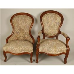2 Elegant Victorian Parlor Chairs.