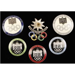 German WWII 1936 Olympics Badges