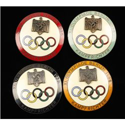 (4) German WWII 1936 Summer Berlin Olympics Judge
