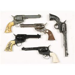 Lot of Toy Sixguns & Holsters