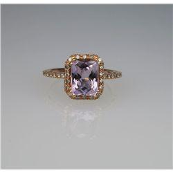 Beautiful Levian Style amethyst & Diamond Ring
