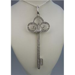Lovely 'Tiffany Style' Diamond Key Pendant