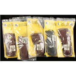 Lot of Five Triple K Holsters