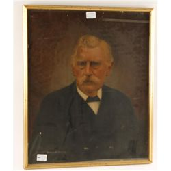 Framed Victorian Portrait of a Man