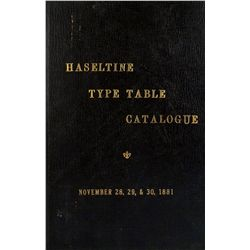 "Haseltine's ""Type Table"""
