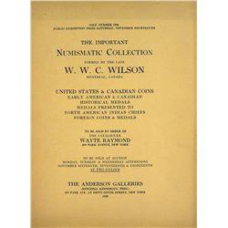 The 1925 W.W.C. Wilson Sale