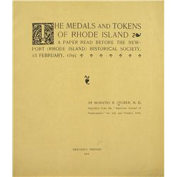Horatio Storer on Rhode Island Medals