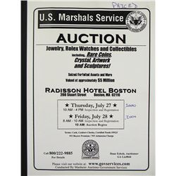 U.S. Marshals Service Sale of Notable Colonials