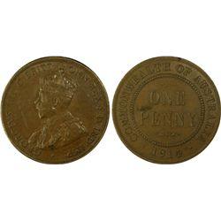 1914 Penny PCGS AU 58