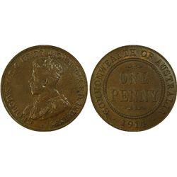 1914 Penny PCGS MS62 BN