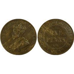 1915H Penny PCGS AU 50