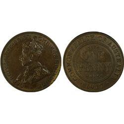 1917 Penny PCGS AU55
