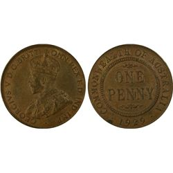 1929 Penny PCGS AU 55