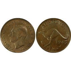 1943P Penny PCGS MS 63 BN
