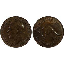 1947 P Penny PCGS MS 63 BN