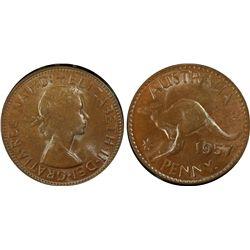 1957(p) Penny PCGS MS64BN