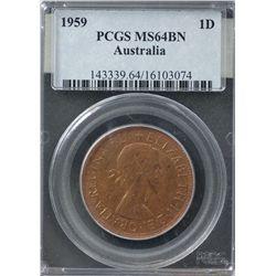 1959 Penny PCGS MS64BN