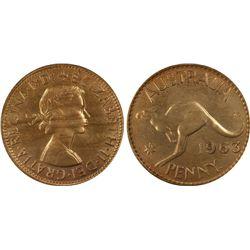 1963(p) Penny PCGS MS64RD