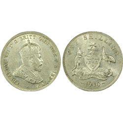 1910 Shilling PCGS AU53