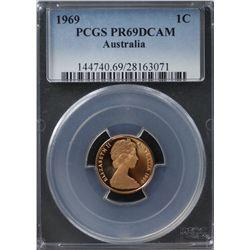 Australia 1c 1969 PCGS PR 69