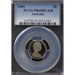 Australia 5c 1969 PCGS PR69