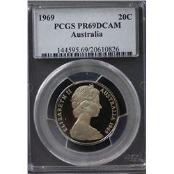 Australia 20c 1969 PCGS PR 69