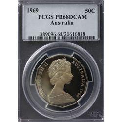 Australia 50c 1969 PCGS PR 68