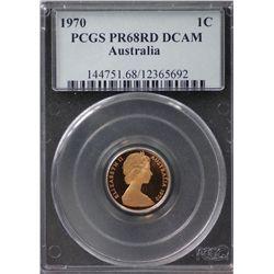 Australia 1c 1970 PCGS PR 68