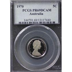 Australia 5c 1970 PCGS PR69