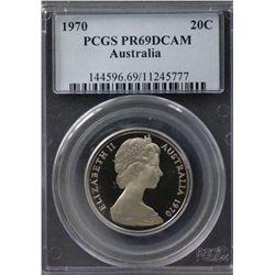 Australia 20c 1970 PCGS PR 69
