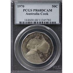 Australia 50c 1970 PCGS PR 68