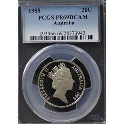 Australia 20c 1988 PCGS PR 69