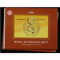 1986 Mint Sets (5) Scarce